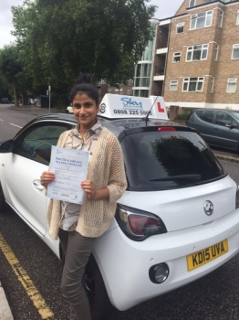 Thank you Shabnam for helping me pass my driving test It was a great experience and I learnt so much I previously was taught by a bigger company and felt I wasted a lot of time not progressing however with Sky I learnt something new each lesson Shabnam was patient encouraging and also firm which I really liked It was very important for her to see me improve every lesson during the lessons I